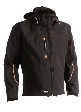 SOFTSHELL HEROCK POSEIDON JACKET BLACK