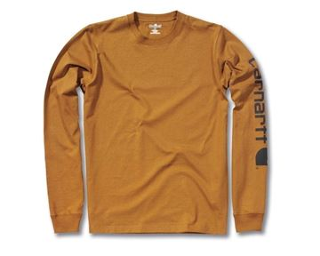 LOGO LONG SLEEVE T-SHIRT BRN - CARHARTT