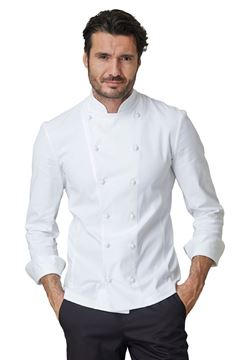 ΣΑΚΑΚΙ ΣΕΦ SIGGI HORECA CESARE CHEF JACKET WHITE