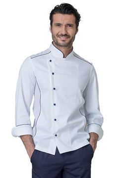 ΣΑΚΑΚΙ ΣΕΦ SIGGI HORECA ADRIAN CHEF JACKET WHITE BLUE