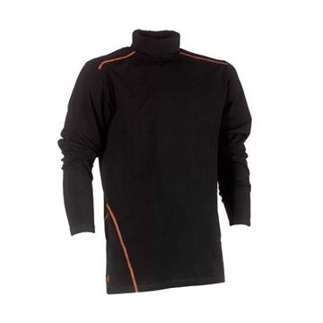 ΒΑΜΒΑΚΕΡΗ ΜΠΛΟΥΖΑ HEROCK LOTIS ROLL NECK T-SHIRT BLACK