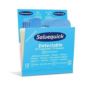 Salvequick Blue Detectable Plaster 6754CAP