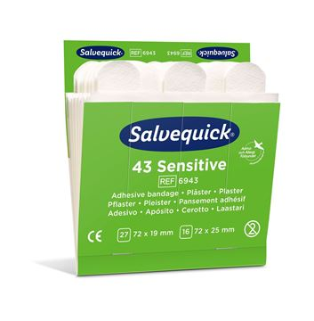 Επιθέματα Salvequick Sensitive Plaster 6943