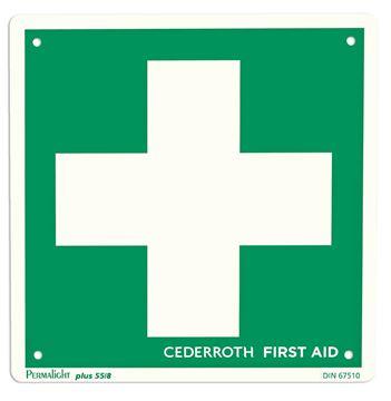Πινακίδα με πράσινο σταυρό φαρμακείου CEDERROTH 1738