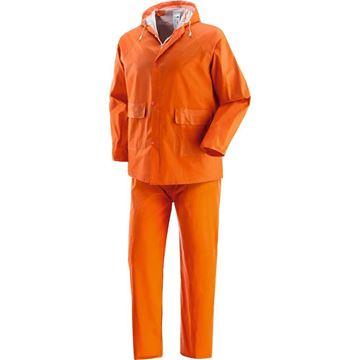 Αδιάβροχο κοστούμι πορτοκαλί PLUVIO