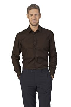 ΠΟΥΚΑΜΙΣΟ ΑΝΔΡΙΚΟ SIGGI HORECA JAMES MEN SHIRT BROWN
