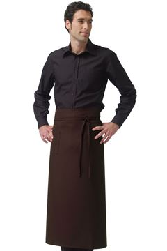 UNISEX ΠΟΔΙΑ SIGGI HORECA NAPOLI LONG APRON BROWN