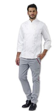 ΣΑΚΑΚΙ ΣΕΦ SIGGI HORECA TRINITY CHEF JACKET WHITE