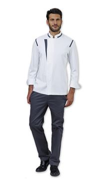 ΣΑΚΑΚΙ ΣΕΦ SIGGI HORECA BEN CHEF JACKET WHITE GREY