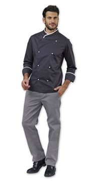 ΣΑΚΑΚΙ ΣΕΦ SIGGI HORECA FLOYD CHEF JACKET GREY