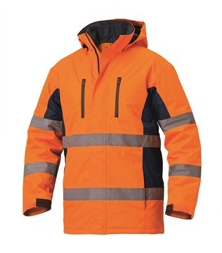 ΜΠΟΥΦΑΝ ΕΡΓΑΣΙΑΣ SIGGI HV LONG SEASON PARKA ORANGE