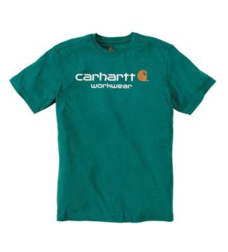 T-SHIRT CORE LOGO SHORT SLEEVE ALPINE GREEN HEATHER - CARHARTT