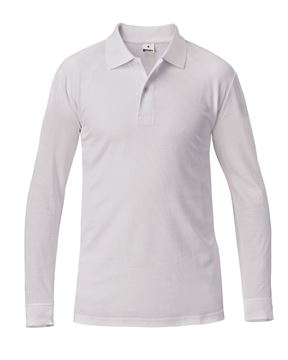 ΜΠΛΟΥΖΑ ΕΡΓΑΣΙΑΣ SIGGI SUMMER POLO SHIRT LS WHITE