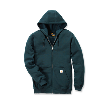 ΖΑΚΕΤΑ MIDWEIGHT HOODED ZIP FRONT SWEATER GREEN - CARHARTT