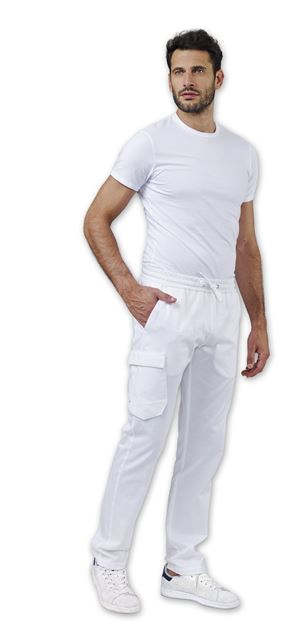 UNISEX ΠΑΝΤΕΛΟΝΙ ΙΑΤΡΟΥ SIGGI DR BLUE STAN TROUSERS WHITE