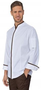 ΣΑΚΑΚΙ ΣΕΦ SIGGI HORECA VICTOR CHEF JACKET WHITE BROWN