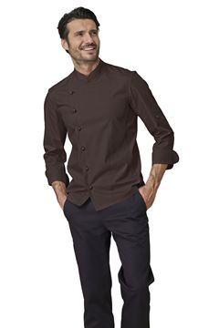 ΣΑΚΑΚΙ ΣΕΦ SIGGI HORECA GABRIEL CHEF JACKET DARK BROWN