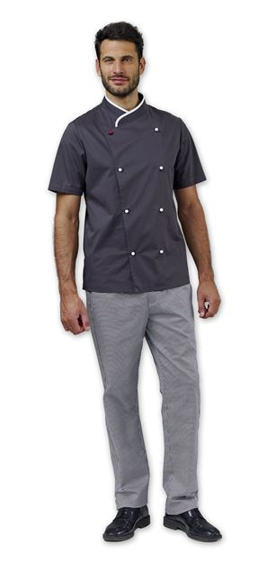 ΣΑΚΑΚΙ ΣΕΦ SIGGI HORECA DAVIN CHEF JACKET GREY