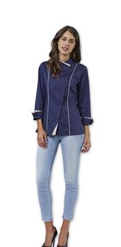 ΣΑΚΑΚΙ ΣΕΦ ΓΥΝΑΙΚΕΙΟ SIGGI HORECA CLAIRE WOMAN CHEF JACKET BLUE