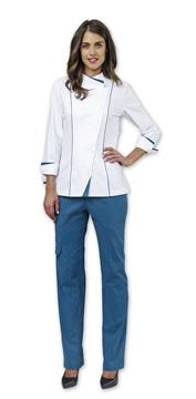 ΣΑΚΑΚΙ ΣΕΦ ΓΥΝΑΙΚΕΙΟ SIGGI HORECA CLAIRE WOMAN CHEF JACKET WHITE