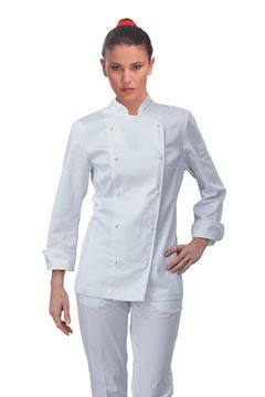 ΣΑΚΑΚΙ ΣΕΦ ΓΥΝΑΙΚΕΙΟ SIGGI HORECA AMABEL WOMAN CHEF JACKET WHITE