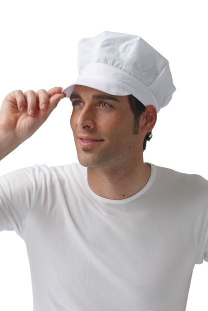 ΣΚΟΥΦΟΣ ΜΑΓΕΙΡΑ SIGGI HORECA BILL CHEF CAP WHITE