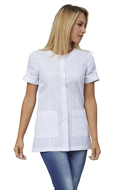 ΓΥΝΑΙΚΕΙΑ ΜΠΛΟΥΖΑ SIGGI HORECA FLAVIA LADIES TUNIC WHITE