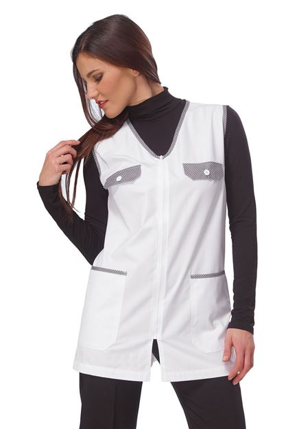 ΓΥΝΑΙΚΕΙΑ ΡΟΜΠΑ SIGGI HORECA MELANY LADIES PINAFORE WHITE