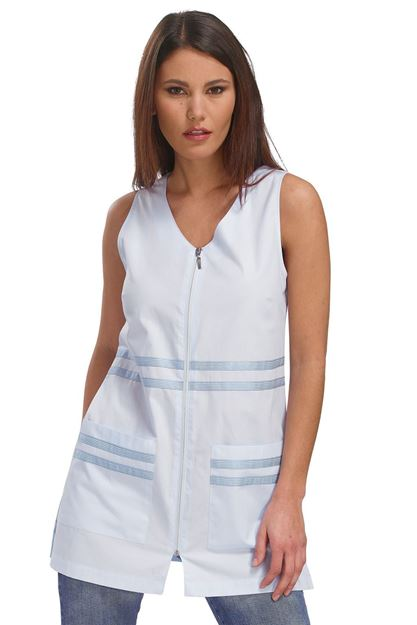 ΓΥΝΑΙΚΕΙΑ ΡΟΜΠΑ SIGGI HORECA HANA LADIES PINAFORE WHITE