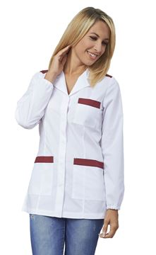 ΓΥΝΑΙΚΕΙΑ ΡΟΜΠΑ SIGGI HORECA ELETTRA LADIES TUNIC WHITE BORDEAUX