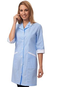 ΓΥΝΑΙΚΕΙΑ ΡΟΜΠΑ SIGGI HORECA CLEO LADIES TUNIC WHITE AZURE