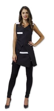 ΓΥΝΑΙΚΕΙΑ ΡΟΜΠΑ SIGGI BEAUTY NIVES WOMAN PINAFORE BLACK N WHITE