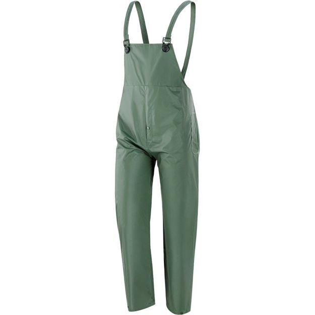 NERI SPA Αδιάβροχο παντελόνι με τιράντες PLUVIO GREEN