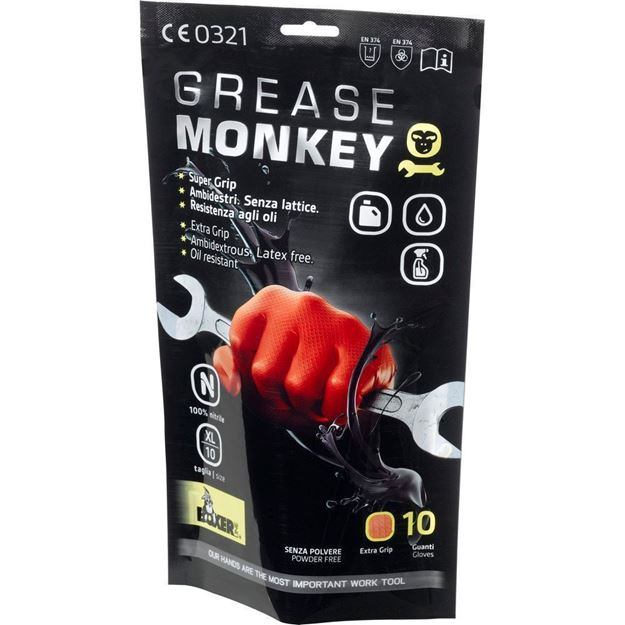 NERI SPA Γάντια μιας χρήσης GREASE MONKEY BOXER LINE 10T