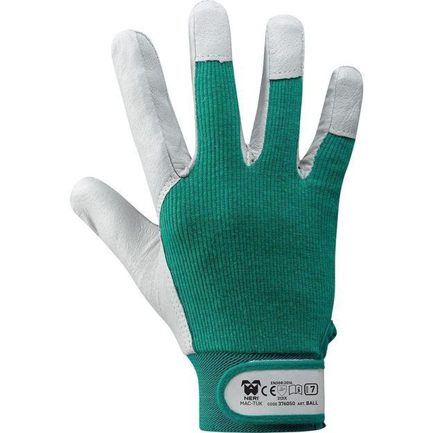 NERI SPA Γάντια κίτρινα BALL - MAC TUK GREEN