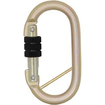 Σύνδεσμος KRATOS SAFETY STEEL SCREW -LOCKING KARABINER with captive pin