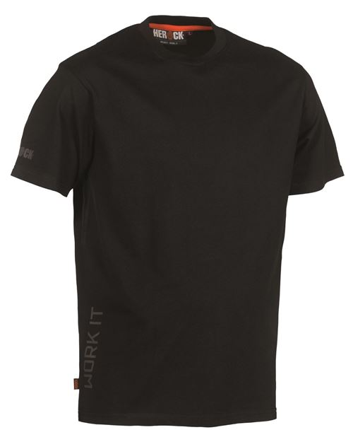 ΒΑΜΒΑΚΕΡΟ ΜΠΛΟΥΖΑΚΙ  HEROCK CALLIUS T-SHIRT SHORT SLEEVES - BLACK