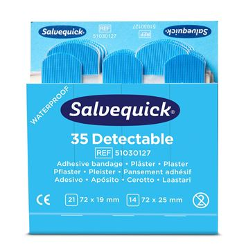 Επιθέματα CEDERROTH - Salvequick Blue Detectable Plaster 51030127