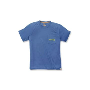 ΜΠΛΟΥΖΑΚΙ CARHARTT T-SHIRT FORCE FISHING GRAPHIC SHORT SLEEVE T-SHIRT FEDERAL BLUE