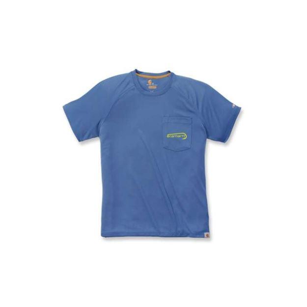 ΜΠΛΟΥΖΑΚΙ CARHARTT T-SHIRT FORCE FISHING GRAPHIC SHORT SLEEVE T-SHIRT FEDERAL BLUE