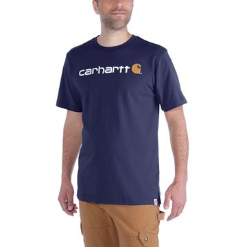 ΜΠΛΟΥΖΑΚΙ CARHARTT EMEA CORE LOGO WORKWEAR SHORT SLEEVE T-SHIRT NAVY