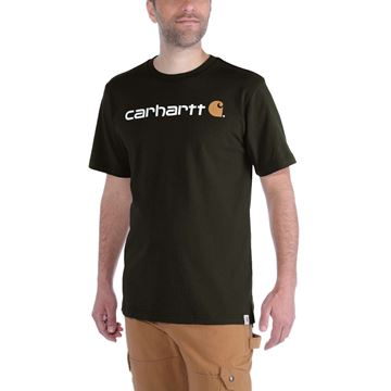 ΜΠΛΟΥΖΑΚΙ CARHARTT EMEA CORE LOGO WORKWEAR SHORT SLEEVE T-SHIRT PEAT