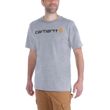 ΜΠΛΟΥΖΑΚΙ CARHARTT EMEA CORE LOGO WORKWEAR SHORT SLEEVE T-SHIRT HEATHER GREY