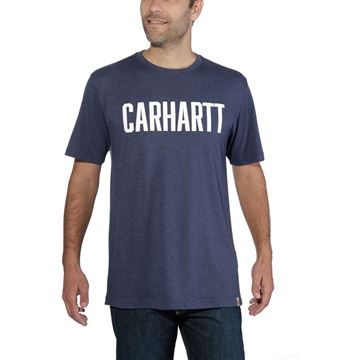 ΜΠΛΟΥΖΑΚΙ CARHARTT T-SHIRT MADDOCK BLOCK LOGO GRAPHIC SHORT SLEEVE INDIGO HEATHER