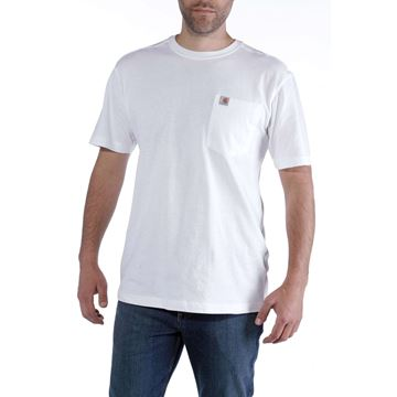 ΜΠΛΟΥΖΑΚΙ CARHARTT MADDOCK POCKET SHORT SLEEVE T-SHIRT WHITE