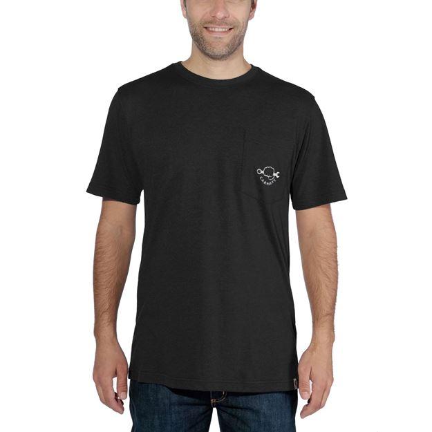 ΜΠΛΟΥΖΑΚΙ CARHARTT MADDOCK STRONG GRAPHIC POCKET SHORT SLEEVE T-SHIRT BLACK