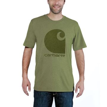 ΜΠΛΟΥΖΑΚΙ CARHARTT WORKWEAR C-LOGO GRAPHIC SHORT SLEEVE T-SHIRT OIL GREEN HEATHER