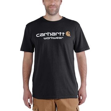T-SHIRT CORE LOGO SHORT SLEEVE BLACK - CARHARTT
