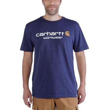 T-SHIRT CORE LOGO SHORT SLEEVE INK BLUE HEATHER - CARHARTT