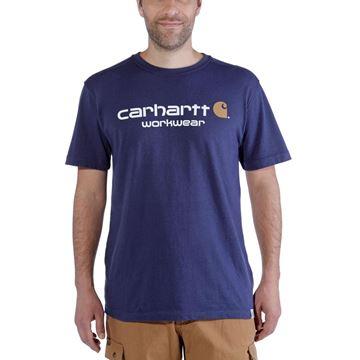T-SHIRT CORE LOGO SHORT SLEEVE INK BLUE HEATHER - CARHARTT